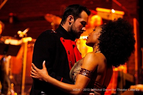 Jared Oxborough (Radames) and Austene Van (Aida)