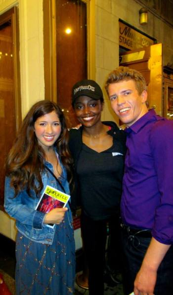 Current star of Broadway? Meet the future stars! Seen here at the Music Box Stage Door with Tony Award winning actress and star of Pippin, Patina Miller